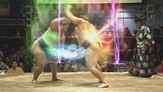 wtf sumo wrestlers with dragon ball FX @ nico nico chokaigi japan