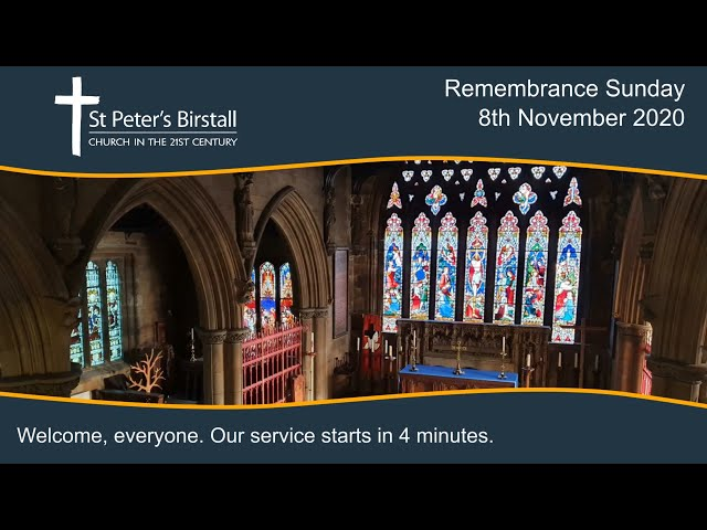 Remembrance Sunday service, 8th November 2020