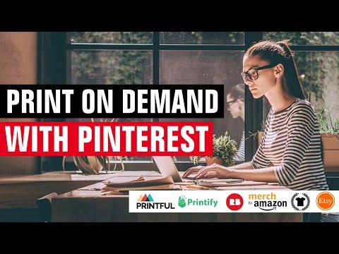Pinterest Marketing For Print On Demand Tutorial   Social Media Marketing   Online Business