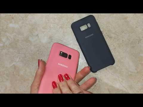 Silicone cover на Samsung S8 plus с aliexpress