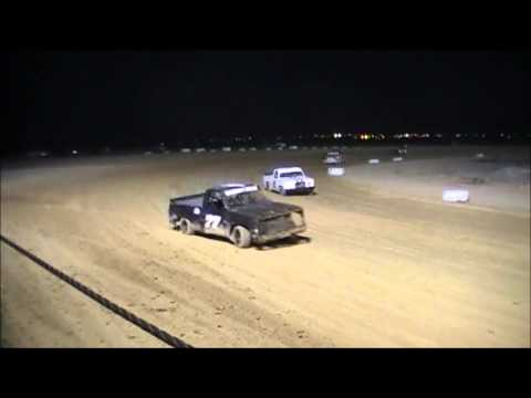 great basin raceway, MCR points race, truck main, 5/31/14 levi card #77 takes the win