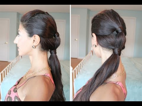 Heatless, Summer Sectioned Ponytail
