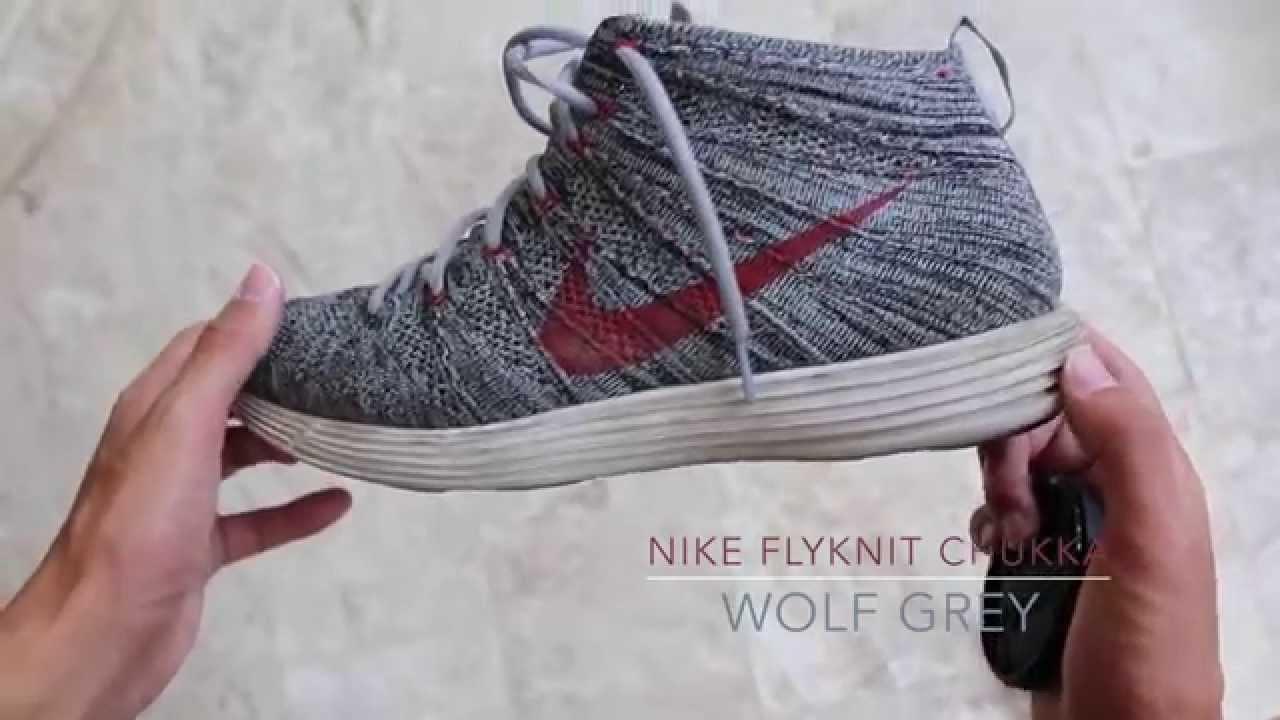 69883c8fa393 ... where to buy nike flyknit chukka wolf grey on feet youtube 770c6 6cd7f  ...