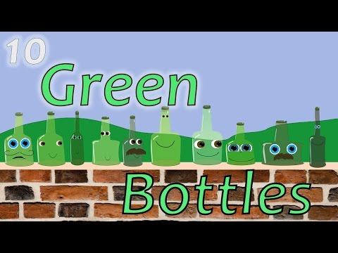 10 Green Bottles Hanging on the Wall song | English animated nursery rhyme