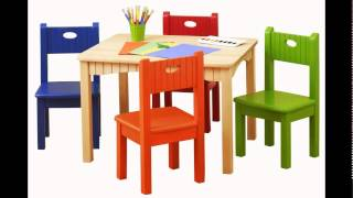 Childrens Plastic Table And Chairs Set
