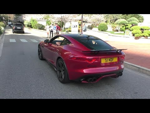 STG's Jaguar F-Type R with Quicksilver Exhaust in Monaco | LOUD Accelerations + BACKFIRES!