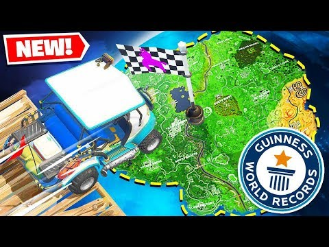 *WORLD RECORD* WE BUILT A RACE TRACK AROUND THE ENTIRE MAP! - Fortnite Battle Royale