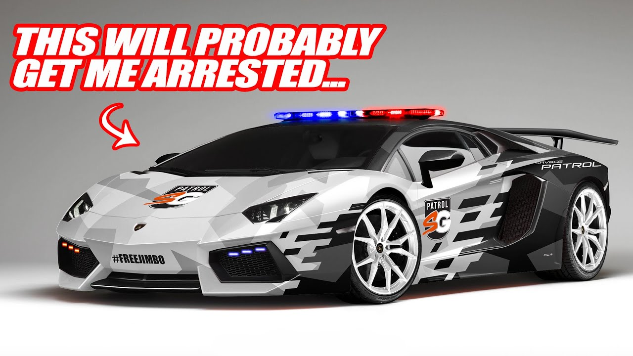 TURNING MY LAMBORGHINI AVENTADOR INTO A POLICE CAR! The Cops Will Love This...