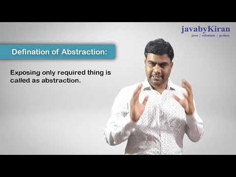 Abstraction in java revision video for interview. Java By kiran