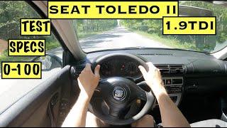 2004 Seat Toledo II 1.9TDi 110hp   POV TEST Drive   Specs   0-100   FUEL CONS.