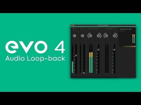 How to Capture Computer Audio Using the EVO 4 Audio Loop-back Mixer
