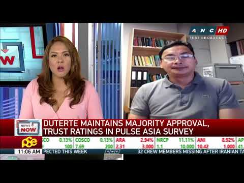 Duterte keeps high trust, approval ratings - Pulse