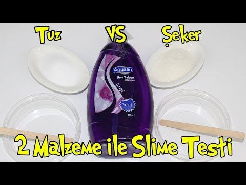 Şeker Slime vs Tuz Slime Challenge !! | Tutkalsız Borakssız Slime Denemesi | Bidünya Oyuncak