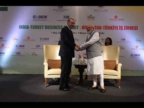 PM Modi and President of Turkey Mr. Recep Tayyip Erdogan at India-Turkey Business Forum