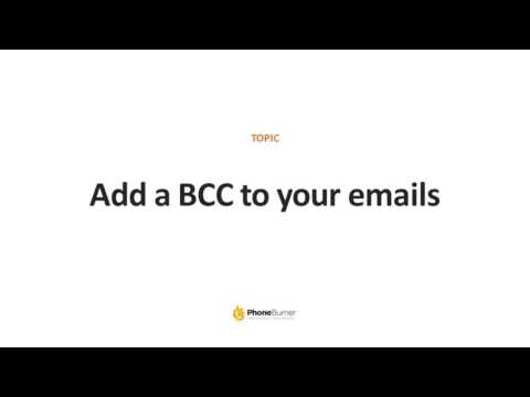 How to Automatically BCC Emails Sent from PhoneBurner