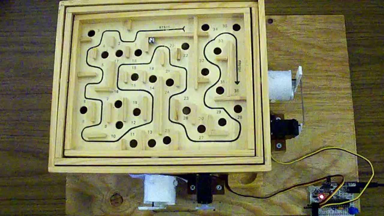 Arduino labyrinth maze game solver youtube