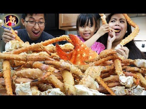 Giant Alaskan King Crabs Seafood Smacking | Massive King Crabs Boil Mukbang, Seafood Boil and Eat