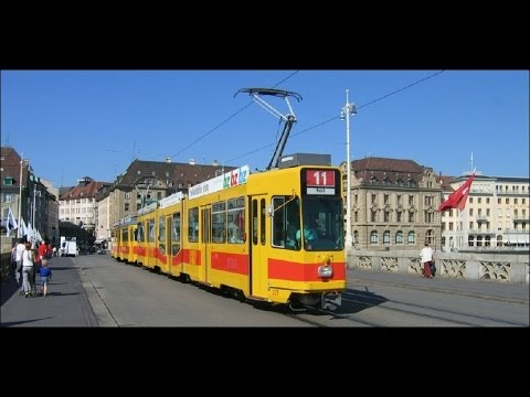 Switzerland: Trams in Basel, July 2014