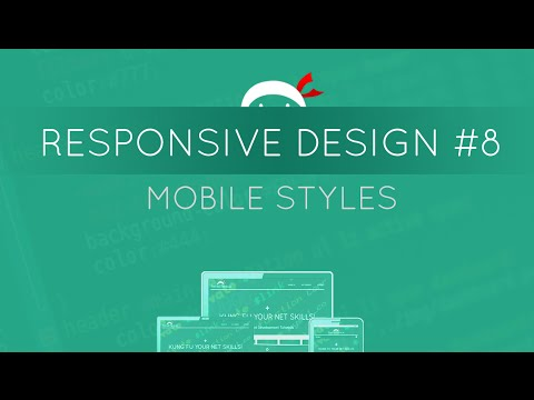 Responsive Web Design Tutorial #8 - Mobile Styles