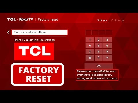 How to Reset TCL Smart TV to Factory Settings || Hard Reset a TCL TV