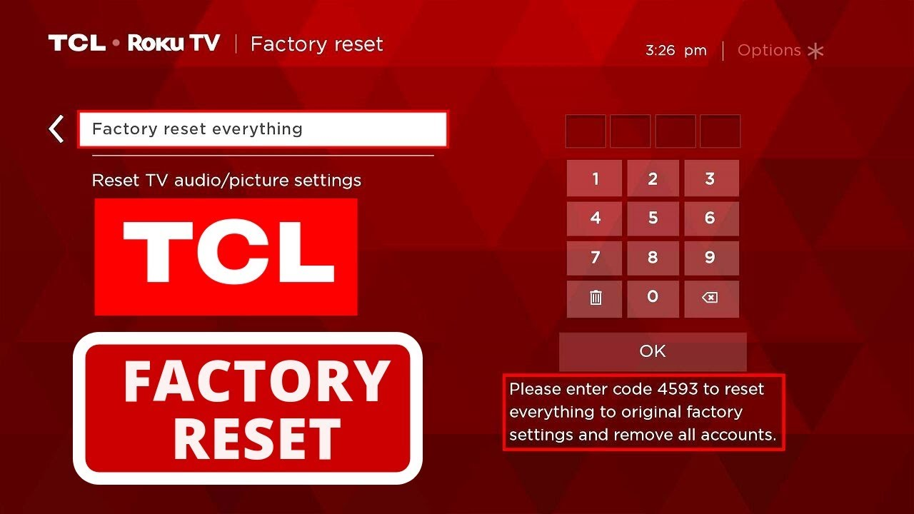 How to Perform a Factory Reset on TCL TV  Hard Reset a TCL TV