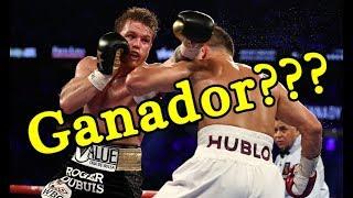 Canelo VS Golovkin 2 De verdad gano Saul Canelo Alvarez / Ccanelo vs GGG Quien gano