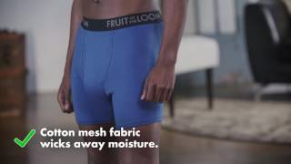 Moisture Wicking Underwear: Fruit of the Loom Select Breathable Boxer Briefs