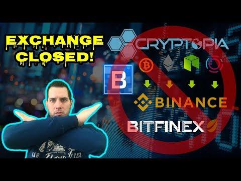 Crypto Exchanges Say NO! Binance   Bittrex   Bitfiniex   Cryptopia   COSS   Cobinhood   KuCoin