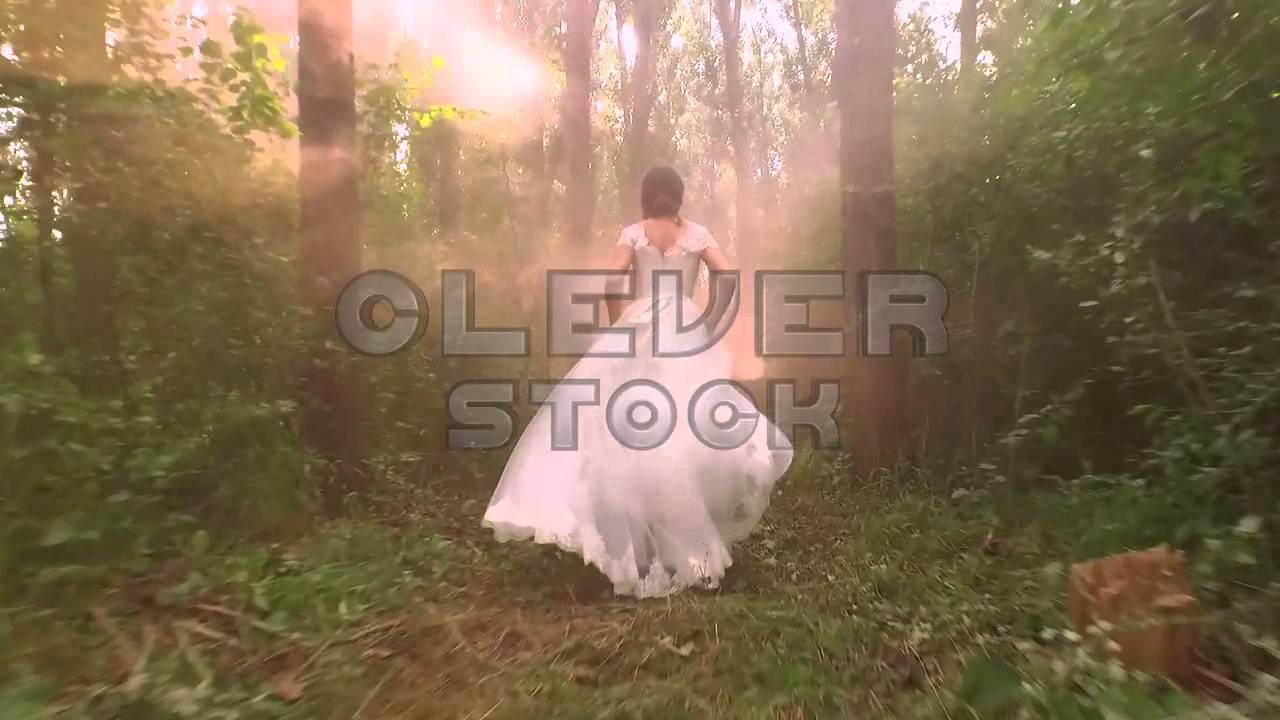 See sun shining through dress - Beautifl Young Bride White Dress Running Through Forest Sun Shining Through Trees Stock Footage