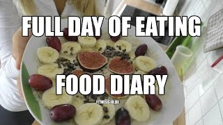FULL DAY OF EATING #1 | VEGAN | Food Diary | FITNESS-ID.DE