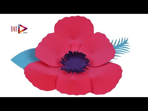 Easy DIY Giant Poppy Flower With Paper   How To Make A Giant Paper Flower Backdrop