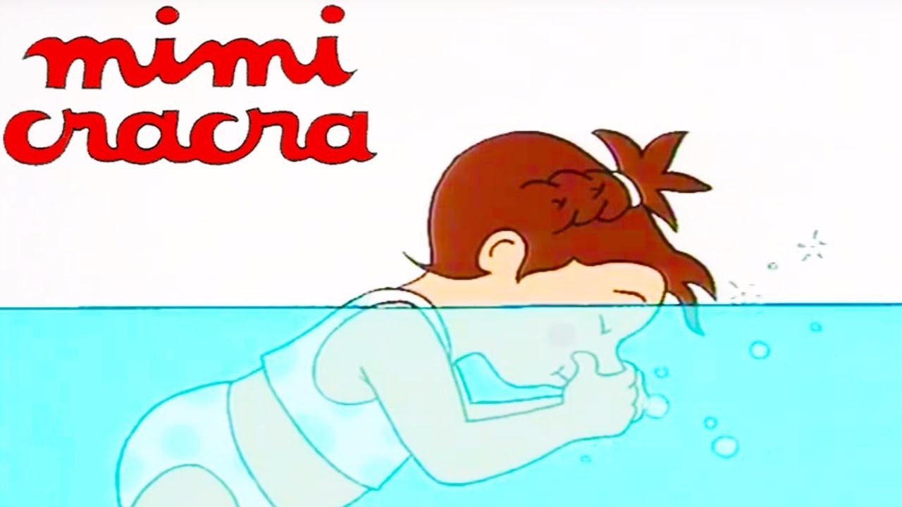 Mimi cracra la piscine et se d guise dessin anim pour for Piscine landerneau