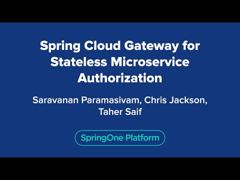 Spring Cloud Gateway for Stateless Microservice Authorization