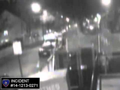 Shots fired on Orchard St. on Dec. 13, 2014. Video from the Stamford Police Department.