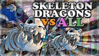 Skeleton Dragons Gameplay vs All Cards (Optimal Placements & Realistic Timing)🍊
