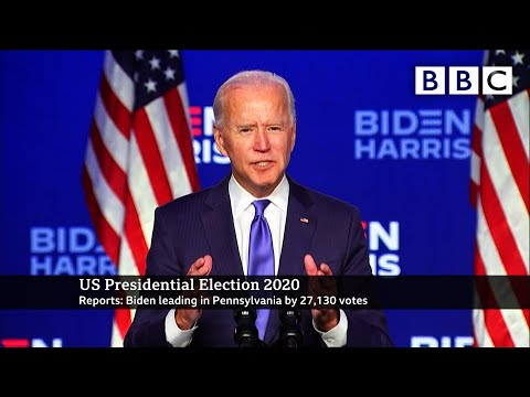 We're going to win, Biden says as lead widens 🇺🇸 US Election 🔴 @BBC News live - BBC