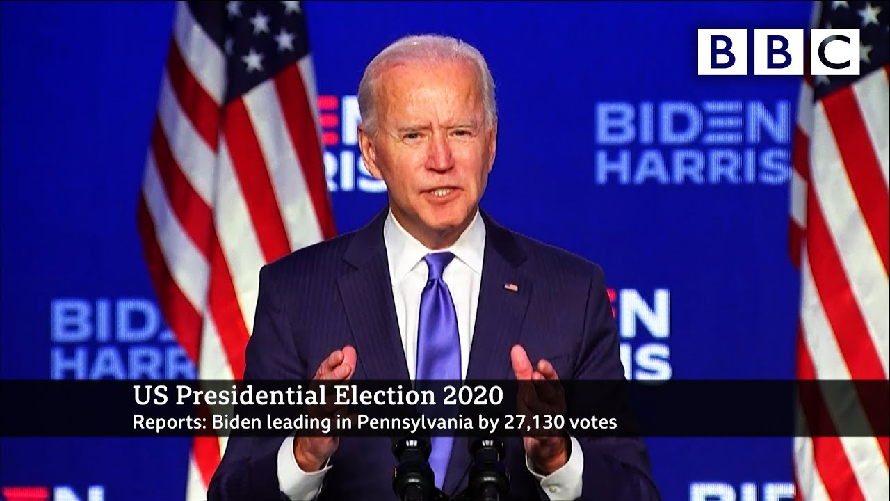 We're going to win, Biden says as lead widens ?? US Election ? @BBC News live - BBC