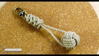 Monkey fist keychain- rope project
