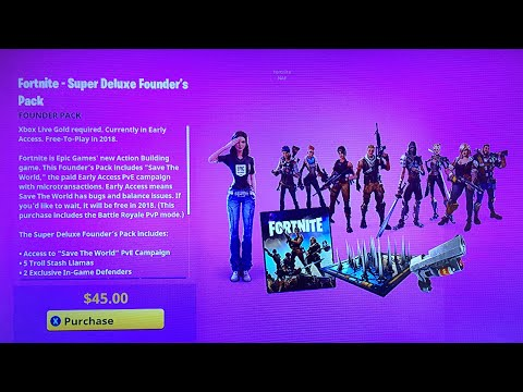 I Got The Super Deluxe Edition In Fortnite Save The World Sub