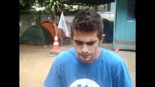 Felipe Barreto chama estudantes para o Acampamento da UPES