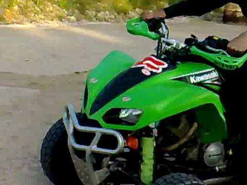 Kawasaki KFX 700 Road legal in action