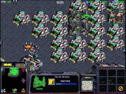 스타크래프트 빨무 빠른무한 1:7 테란 vs 컴퓨터 올프로7명 (starcraft brood war fastest map 1vs7 TvsP(Computer 7)
