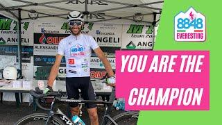 """Stefano Zeni conquista """"Everesting"""" pedalando oltre 10.000 metri"""