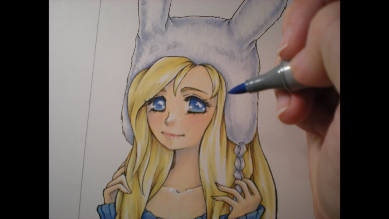 Copic Markers and PrismaColor coloring pencils - SpeedPaint -Shoujo ...