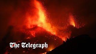 video: La Palma volcano: Spain invites tourists to enjoy 'wonderful show' as eruption triggers evacuation
