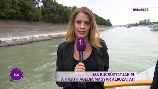 A dunai hajóbaleset magyar áldozatainak búcsúztatója a Margit-hídnál