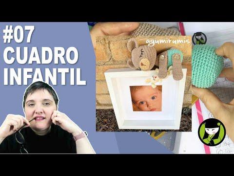 CUADRO INFANTIL AMIGURUMI 7 paso a paso