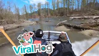 Whipping a 360 in a Jet Stream Boat || ViralHog
