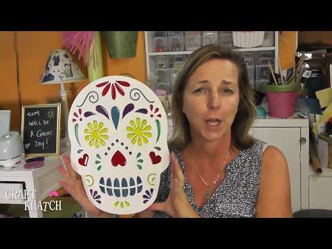 Sugar Skull Decoration!  Resin Craft ~ Halloween DIY ~ Craft Klatch