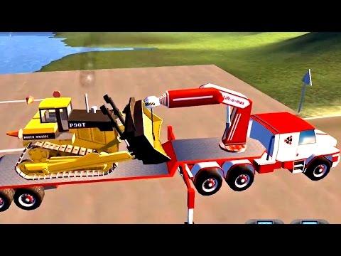 เกมส์ รถบรรทุก บรรทุกรถเกรด ไปเกรดดิน วิดีโอสำหรับเด็ก
